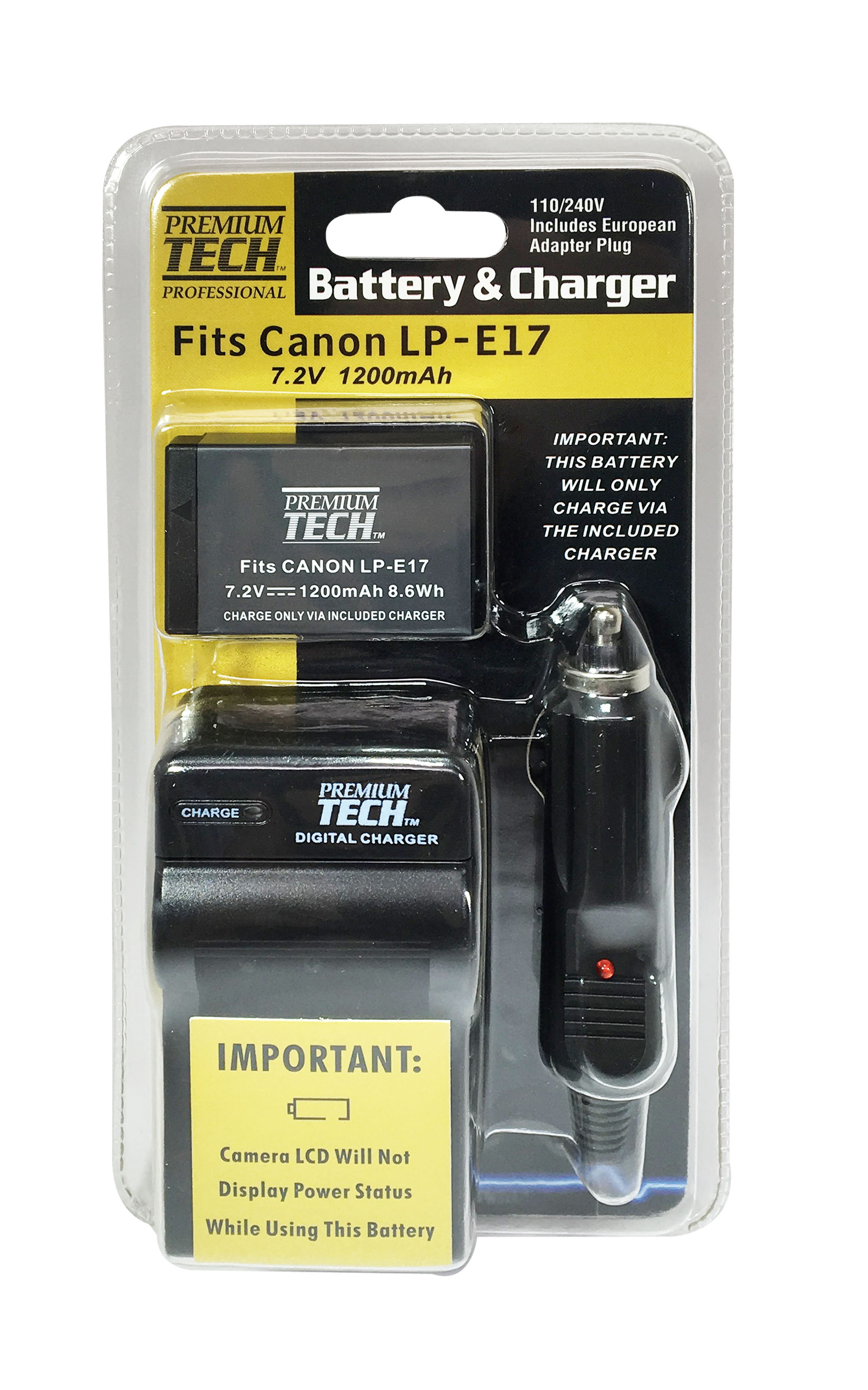 Battery and Charger Kit for Canon LP-E17 - non-decoded